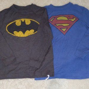 Old Navy Collectabilitees Superman Batman L 10-12